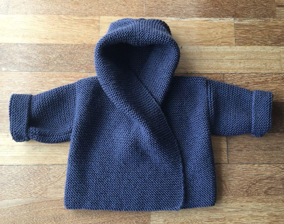 Baby Hooded Wrap Cardigan pattern by Audrey Wilson   Bebe y Patrones
