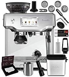 Breville Bes880bss Barista Touch Espresso Machine Brushed Stainless Steel Manufacturer S Warranty Knock Box Mini Espresso Machine Breville Espresso Machine Barista