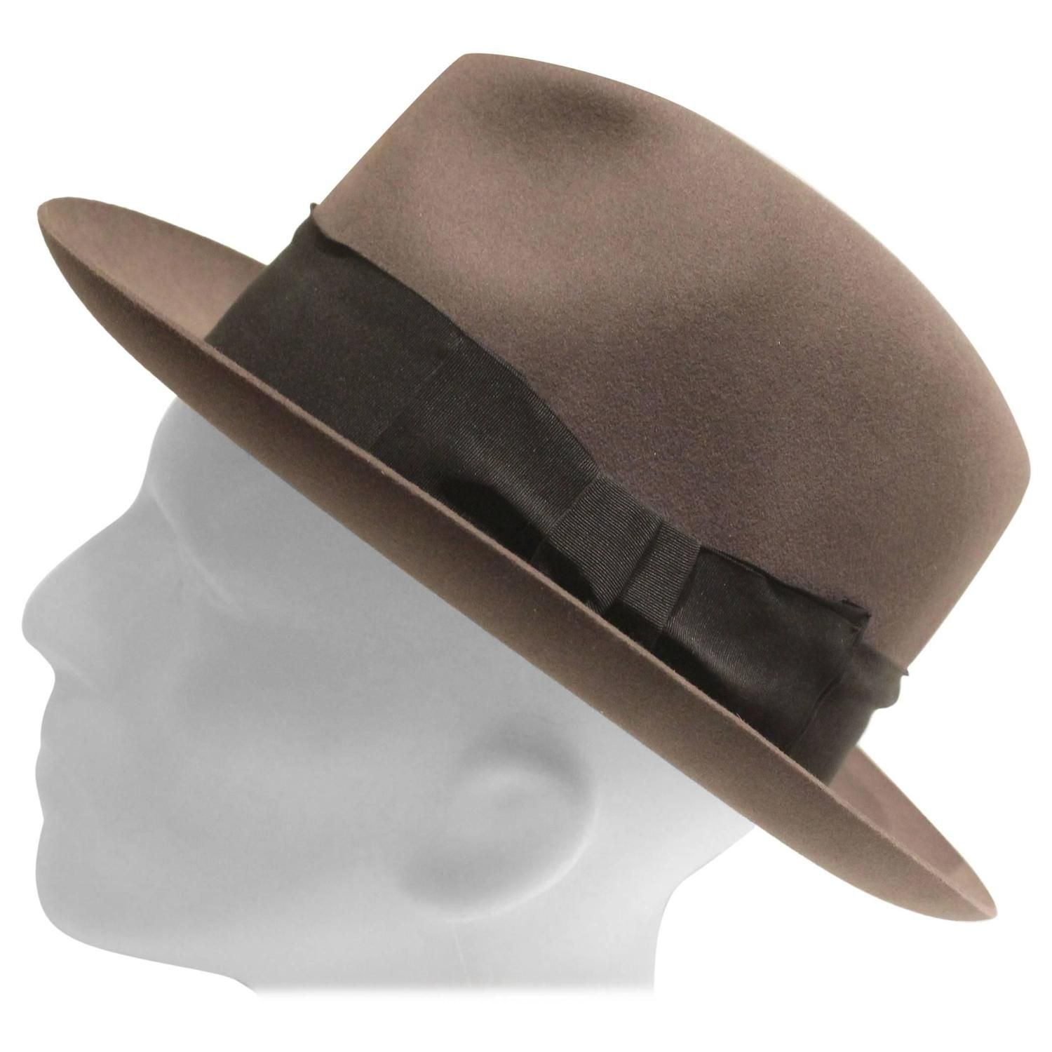 b07bebb690b Vintage Lock and Co Hatters Grey Fedora with Original Brooks Brothers Hat  Box