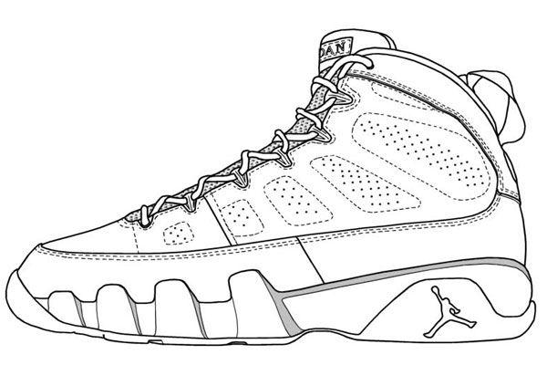 jordan shoe coloring pages # 4
