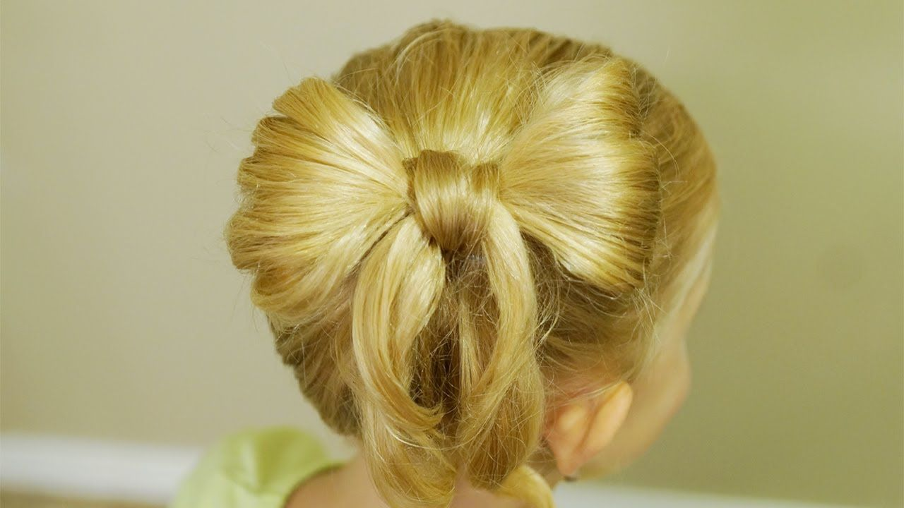 Easy bow hair tutorial backtoschool hairdo hair inspiration