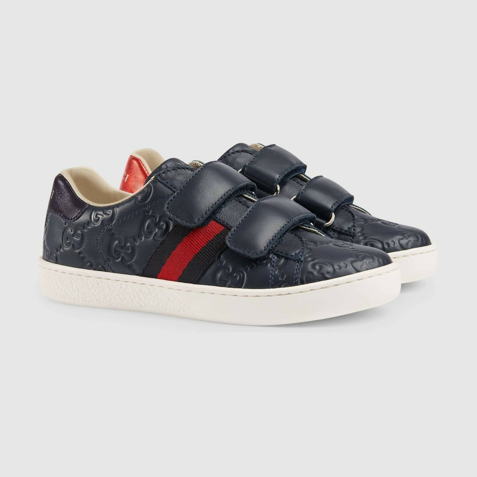 6e74f795c Gucci Children s Ace Signature Sneaker- Blue (Size US 3) (34 ITA) Unisex