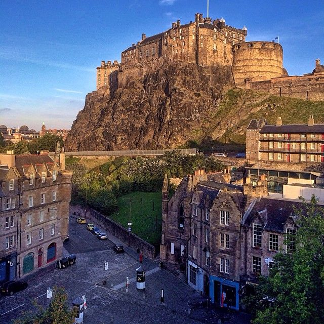jimrichardsonng 1 week ago Edinburgh Castle towers over Grassmarket in the early morning light. #proofscotland #natgeoproof #scotland iphone
