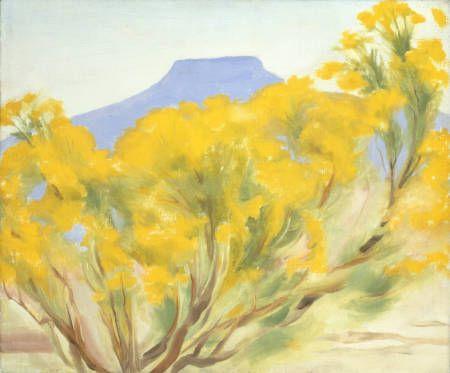 Georgia O'Keeffe. Cottonwood and Pedernal - 1948