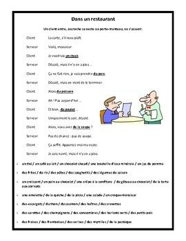 This Is A Great Dialogue For Beginner Learners Of French French 1 And Or French 2 That Allows Them To Practi Learn French French Vocabulary French Worksheets