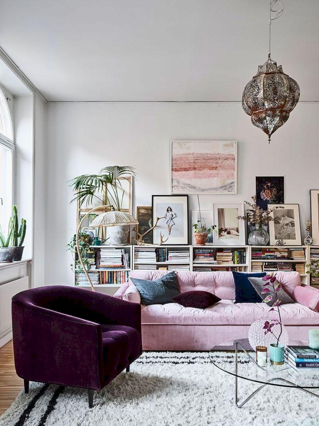 55 Gorgeous Bohemian Style Living Room Decor Ideas | Room decor ...