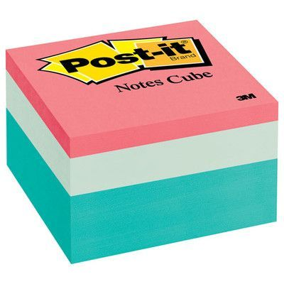 Post-it Cube Note Pad, 490 Sheets