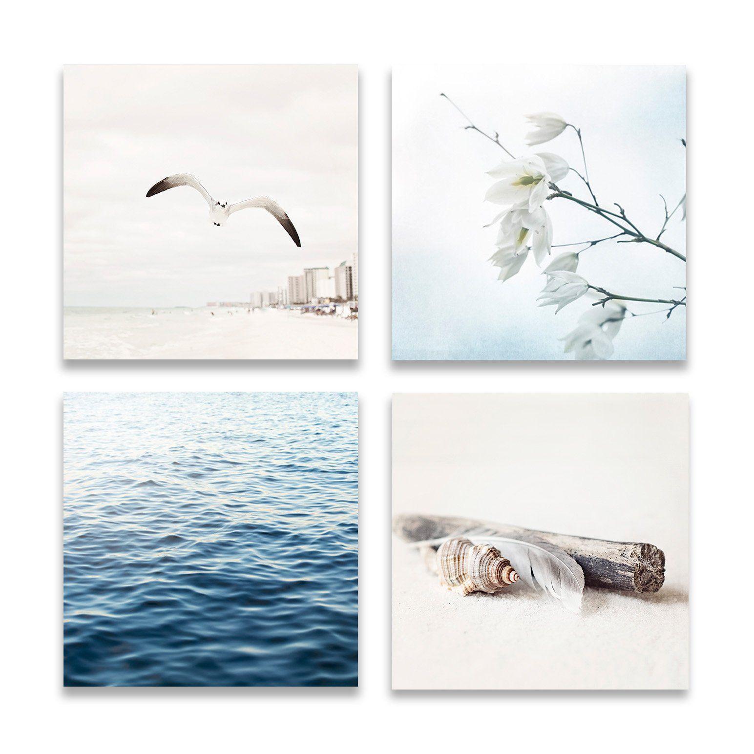 Beige and blue beach set of four beach studiocondo ideas