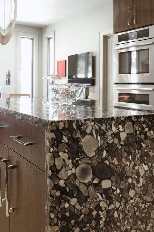 Stylish Stones Decorating With River Rock Kitchen Living