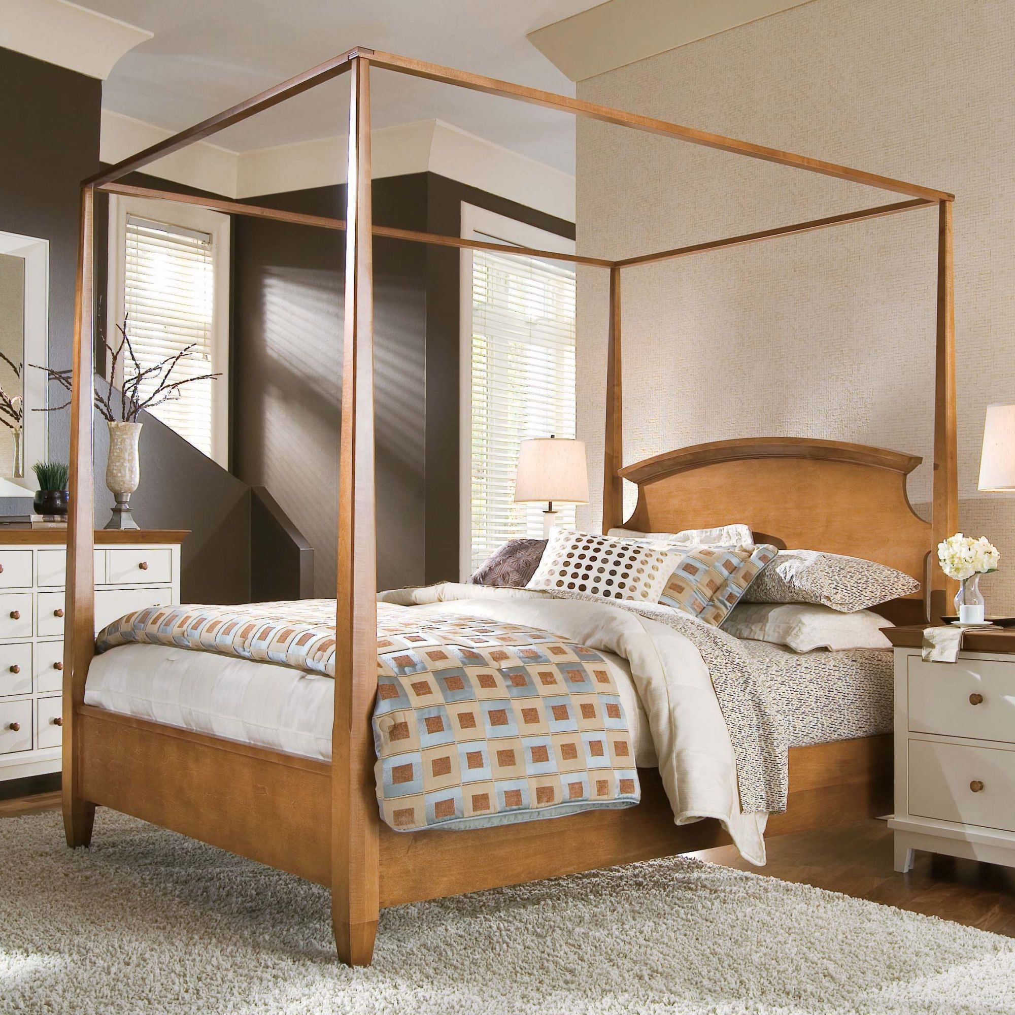 This bed is classic and timeless; you could dress it up or