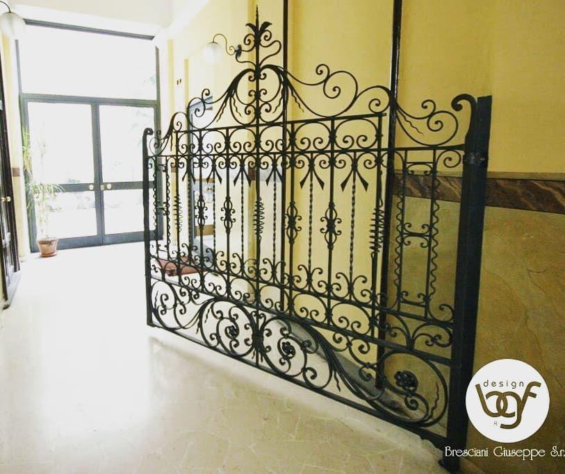 Cancello interno in ferro battuto ⠀ #brescianifabbro #bfgdesign ...