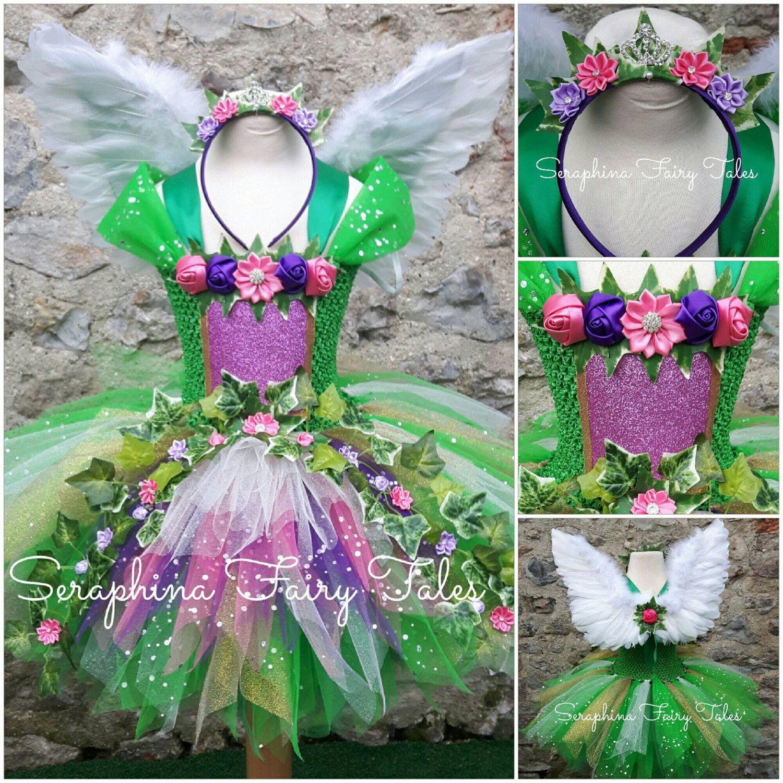 3969d935f Vestido verde bosque bosque hadas Tutu Dress.Ivy y fiesta de ...