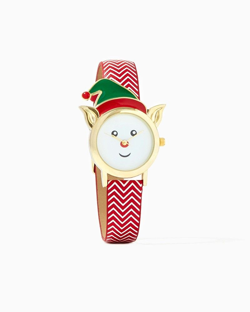 charming charlie | Merry Elf Chevron Watch |