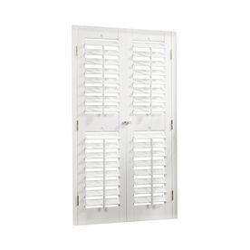 Allen Roth 29 31 W X 36 L Plantation White Faux Wood Interior Shutter