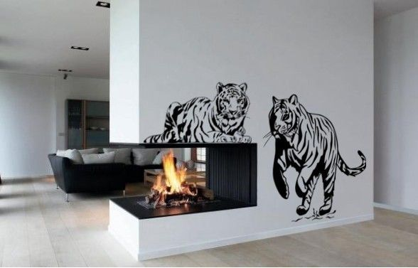 Tiger Wall Decal, Big Cat Sticker, Vinyl Wall Tiger Decor, Room Decor,  Jungle Animal Decal, 23 X 60 Inches