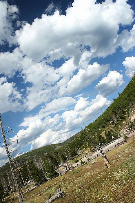 """""""Clouds at Artist Paint Pots"""" in Yellowstone Park, Wyoming, 2012. Prints available, Jeffcoat Art"""