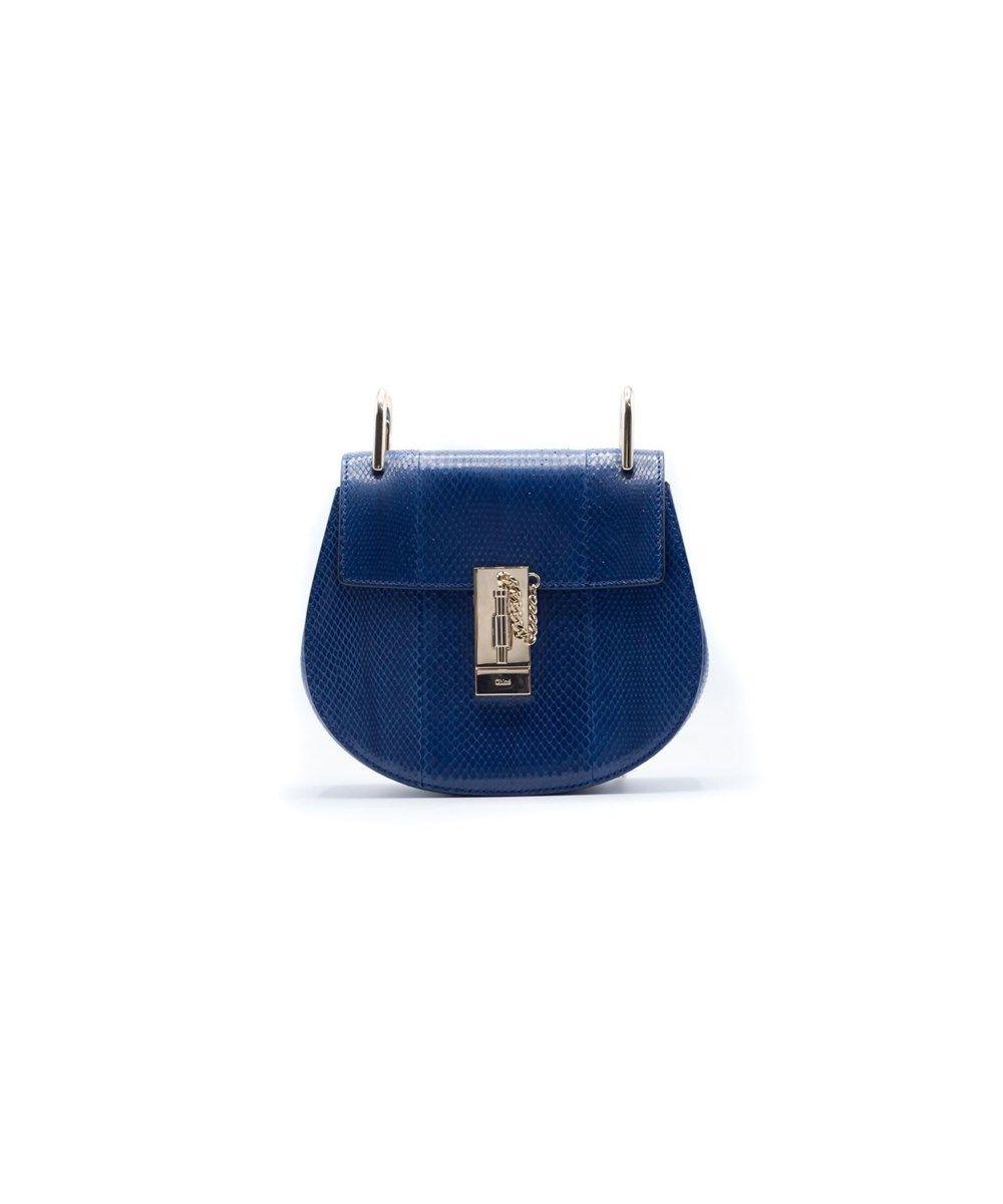 3debfee39d CHLOÉ Chloe Women'S Drew Mini Python Blue Navy Shoulder Bag'. #chloé ...
