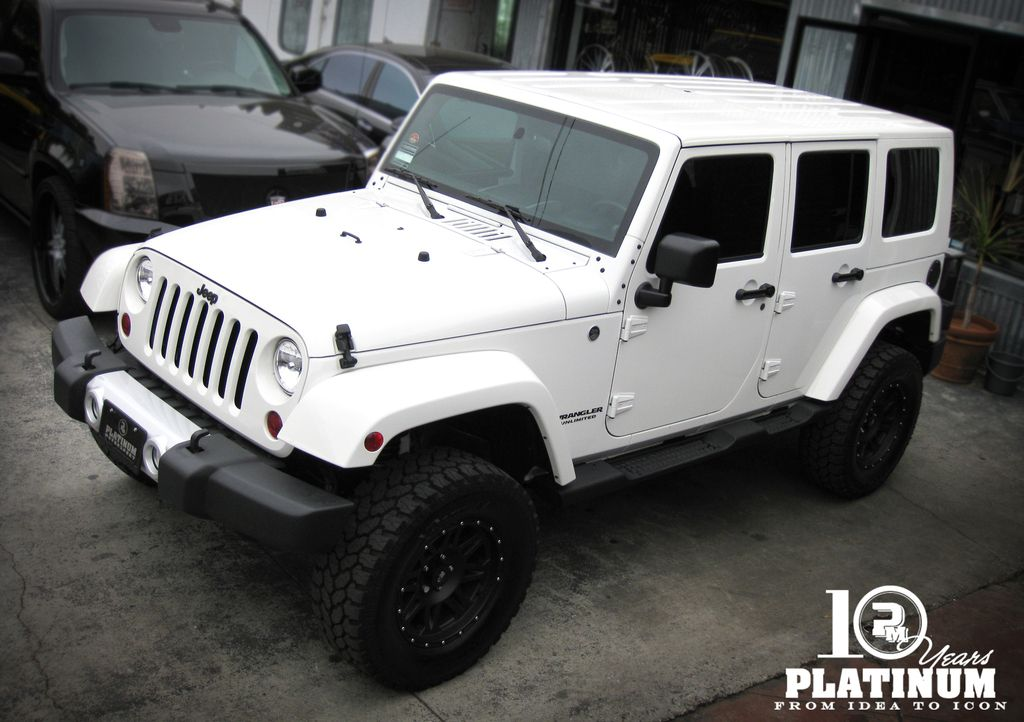 Snow White Jeep Sahara Unlimited X Platinum Motorsport Jeep