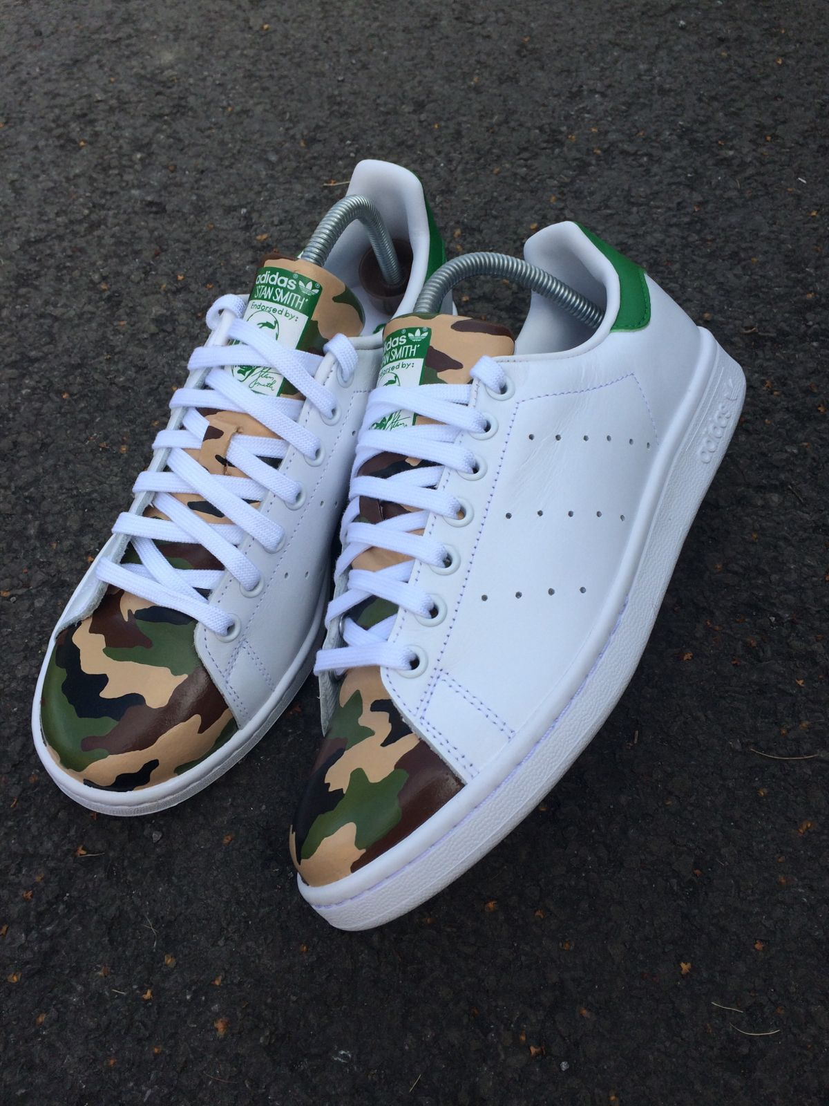 c5803bd4d9a7c Matt B Customs — Adidas Stan Smith - Army Camo
