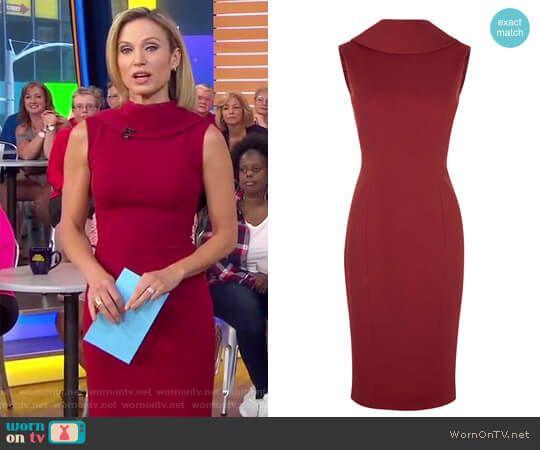 High Neck Pencil Dress Red High Neck Dress High Neck Dress Dresses
