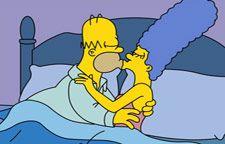 Puzzle Un Beso Entre Homer Y Marge Simpsons Divertidos Los Simpson Fondos De Los Simpsons