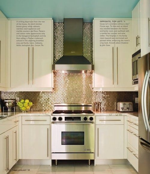 Stunning Copper Backsplash For Modern Kitchens Ikea Kitchen