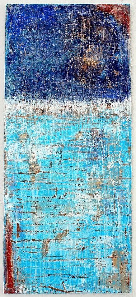 201 3  - 114  x 50 x 2,1  cm - Mischtechnik  auf massiver Holzplatte  ● nicht mehr verfügbar  , Abstrakte,        Kunst, Malerei,  Leinwand...
