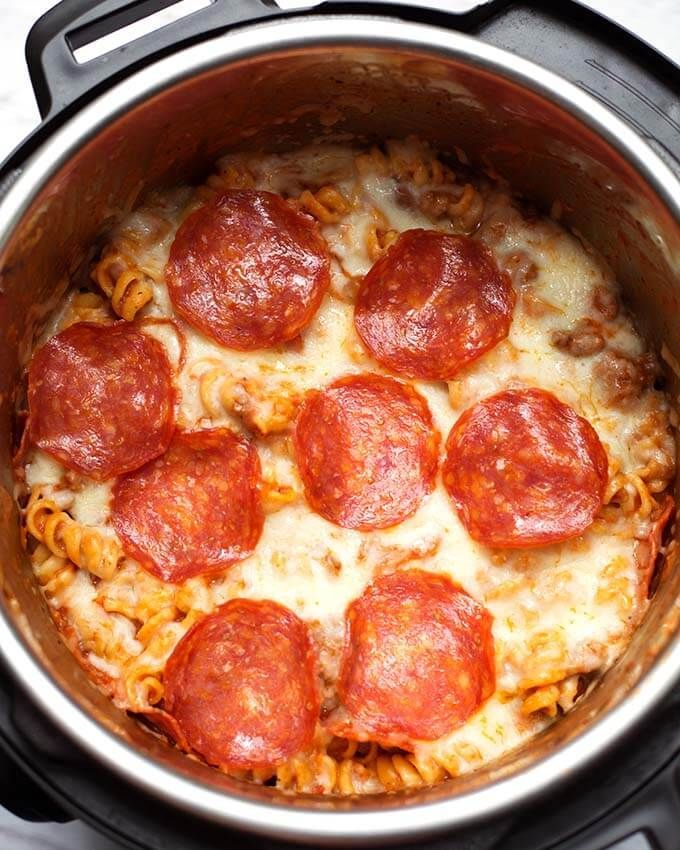 Instant Pot Pizza Pasta Casserole is a delicious hearty onepot meal You can make this pressure cooker pizza pasta casserole with your favorite pizz
