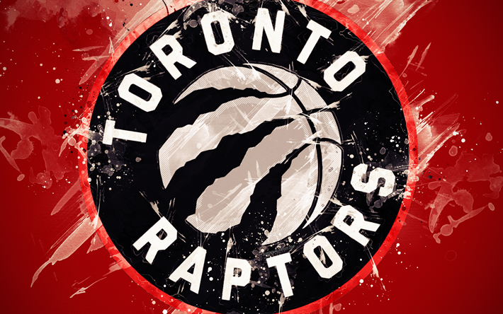 Download Wallpapers Toronto Raptors 4k Grunge Art Logo Canadian Basketball Club Red Grunge Background Paint Splashes Nba Emblem Toronto Ontario Canad Toronto Raptors Toronto Raptors Basketball Raptors Basketball