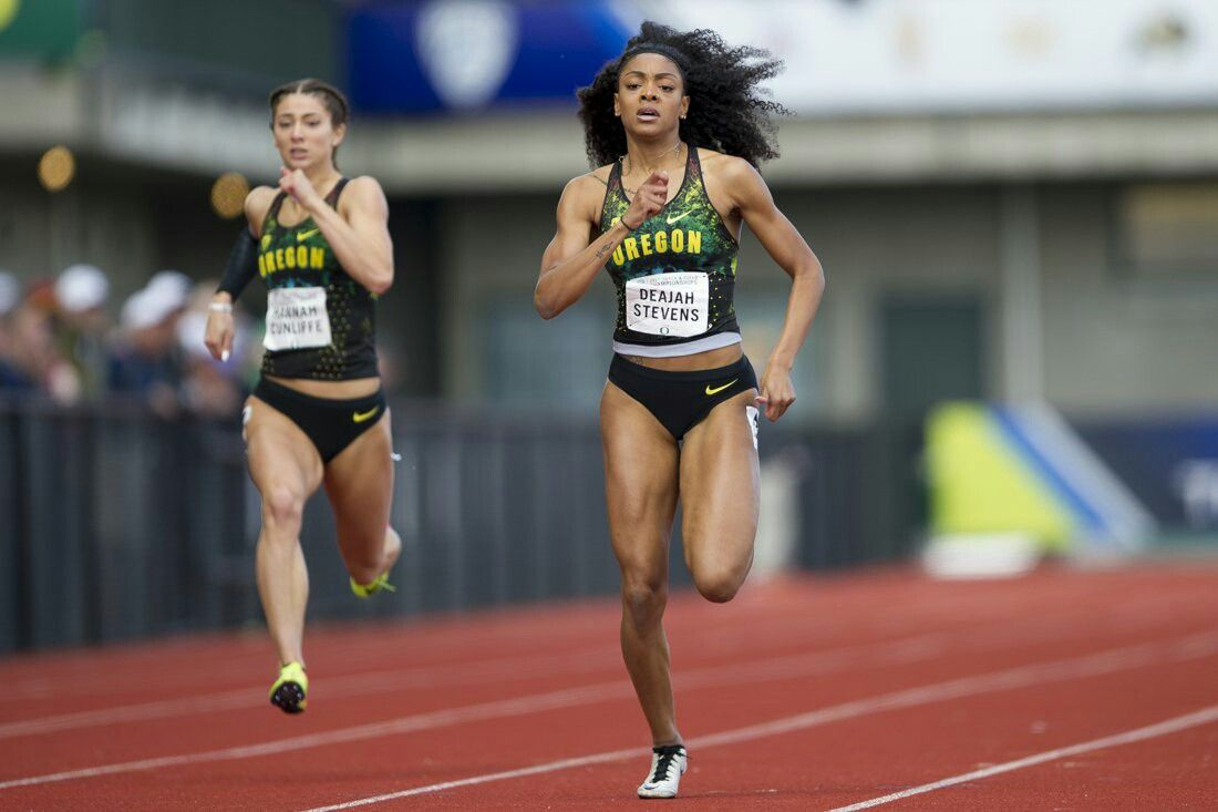 Deajah Stevens   Hannah Cunliffe   Track pictures, Track and field ...