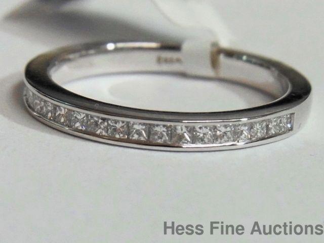 Designer Breanna Princess Cut Diamond 14K Gold Wedding Anniversary Band Ring #BandswithoutStones