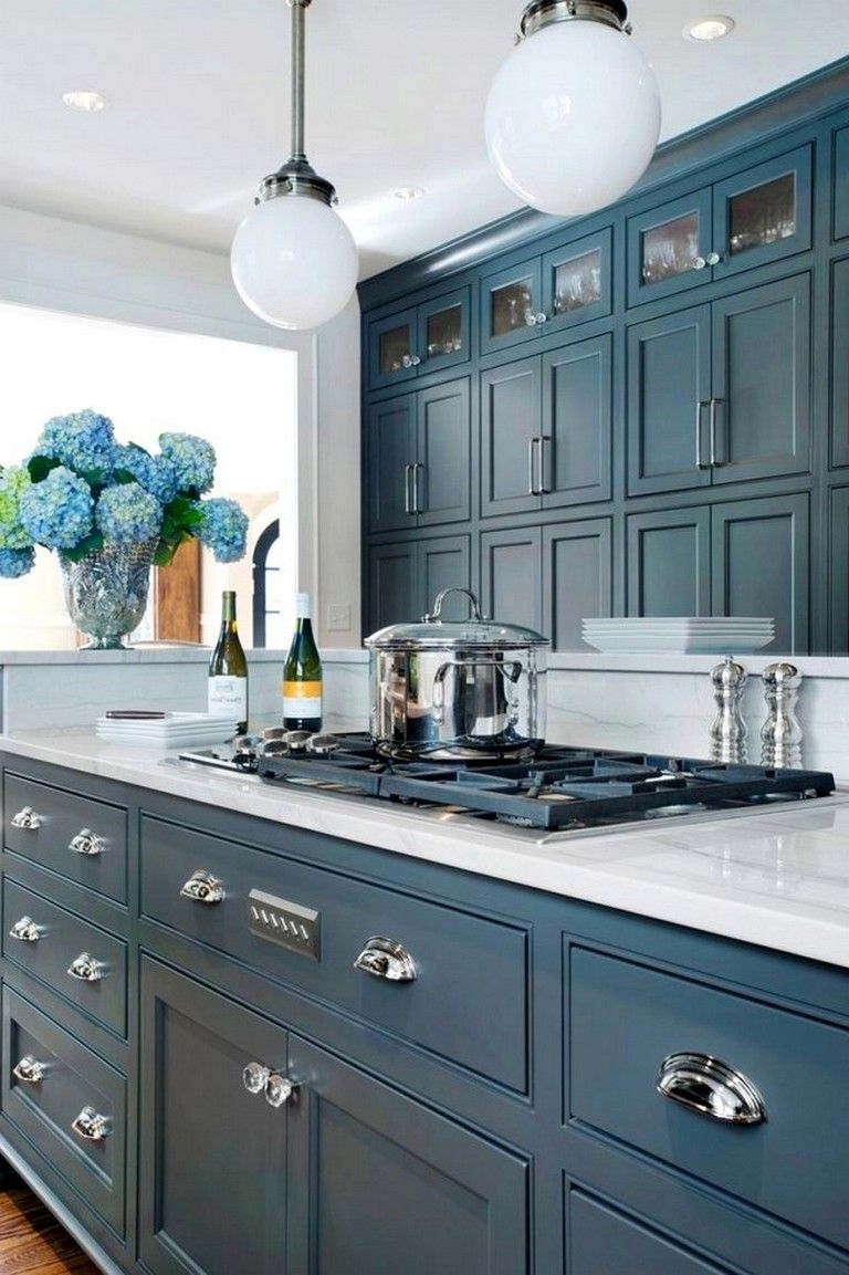 110 comfortable and elegant farmhouse kitchen cabinets ideas rh pinterest com