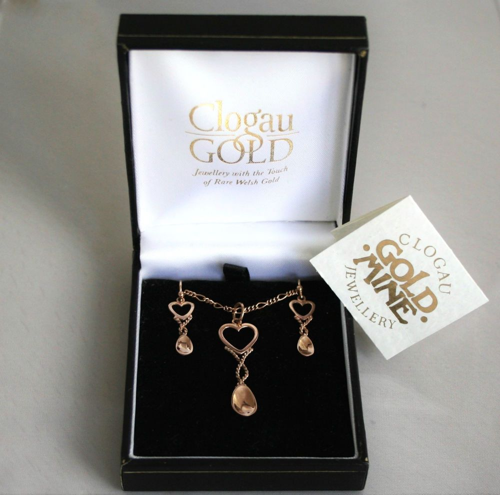 5cbc776063a2a Stunning Vintage Welsh Clogau 9ct Rose Gold Lovespoon Pendant ...
