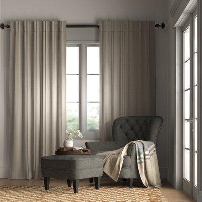 Brayden Studio Johnson Village Striped Room Darkening Rod Pocket Patio Single Curtain Panel In 2020 Striped Room Grommet Curtains Curtains