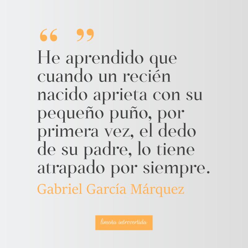 Frase De Gabriel García Márquez Sobre La Paternidad