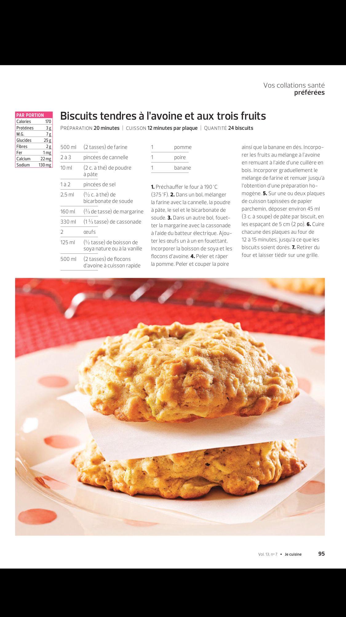 Vos Collations Santé Préférées De JE Cuisine Octobre Lisez - Appli cuisine