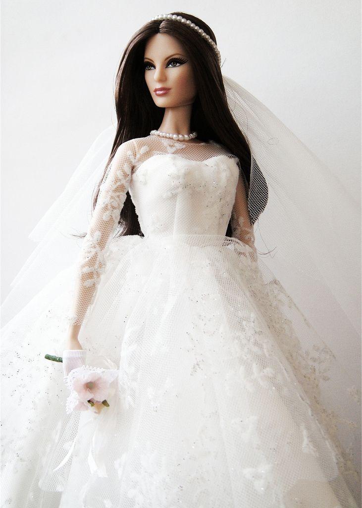 Vestidos de novia que vas a querer arrebatarle a Barbie | Puppen und ...