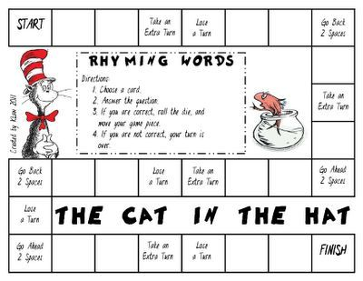 Worksheet Cat In The Hat Sight Word Worksheets free game the cat in hat rhyming words kindergarten words