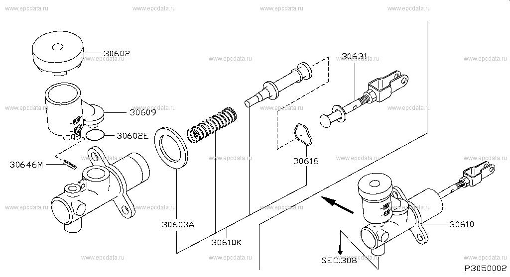305 Clutch Master Cylinder For Hardbody D22s Nissan Hardbody Genuine Parts Nissan Hardbody Nissan Cylinder