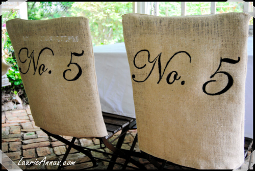 Vintage Lil Garden Chairs ~ A Simple Burlap Was Stitched To Fit The Chair  Backs,