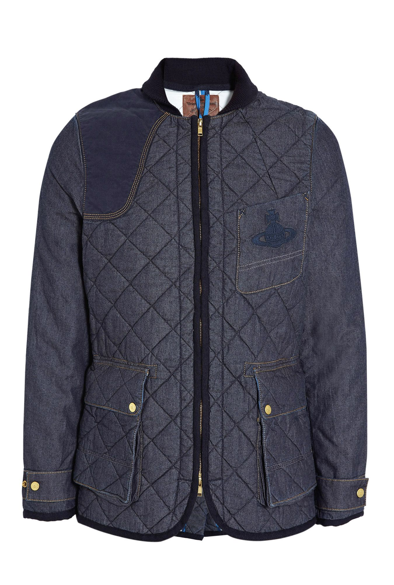 a5fdeb41a Washed Quilted Denim Hunting Jacket, Vivienne Westwood Anglomania by ...