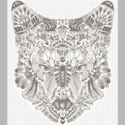Coyote Quilt Back Panel in White