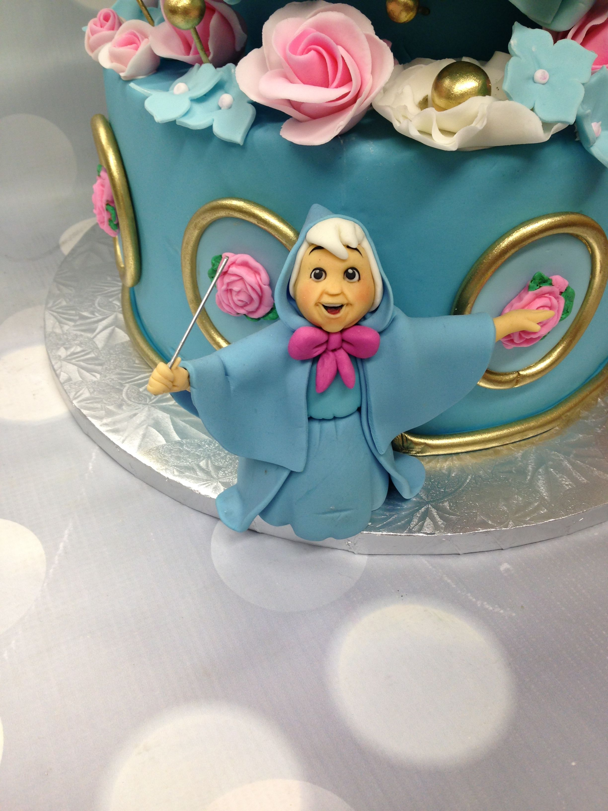 Fairy Godmother Edible Cinderella Birthday Cake Cake