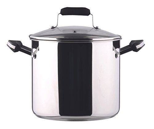 Uniware 18/8 Stainless Steel Stockpot with Glass Lid (6.0 QT)