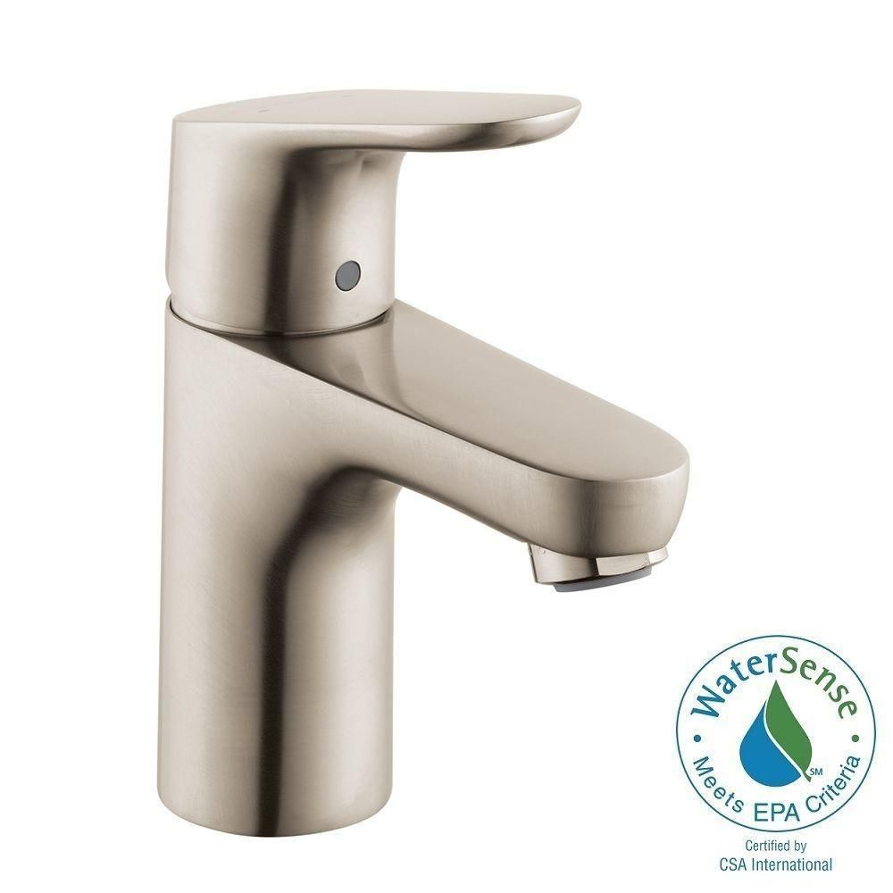 Focus 100 Single Hole 1 Handle Bathroom Faucet In Brushed Nickel