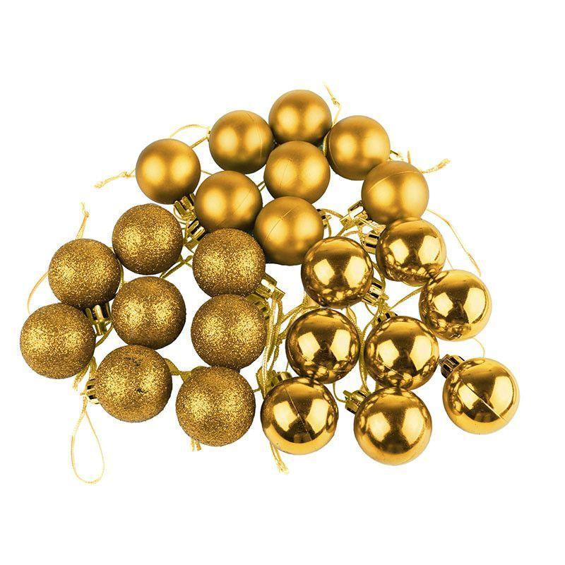 Silver Decorative Balls 24Pcs Glitter Christmas Balls Baubles 30Mm Diameter Xmas Tree