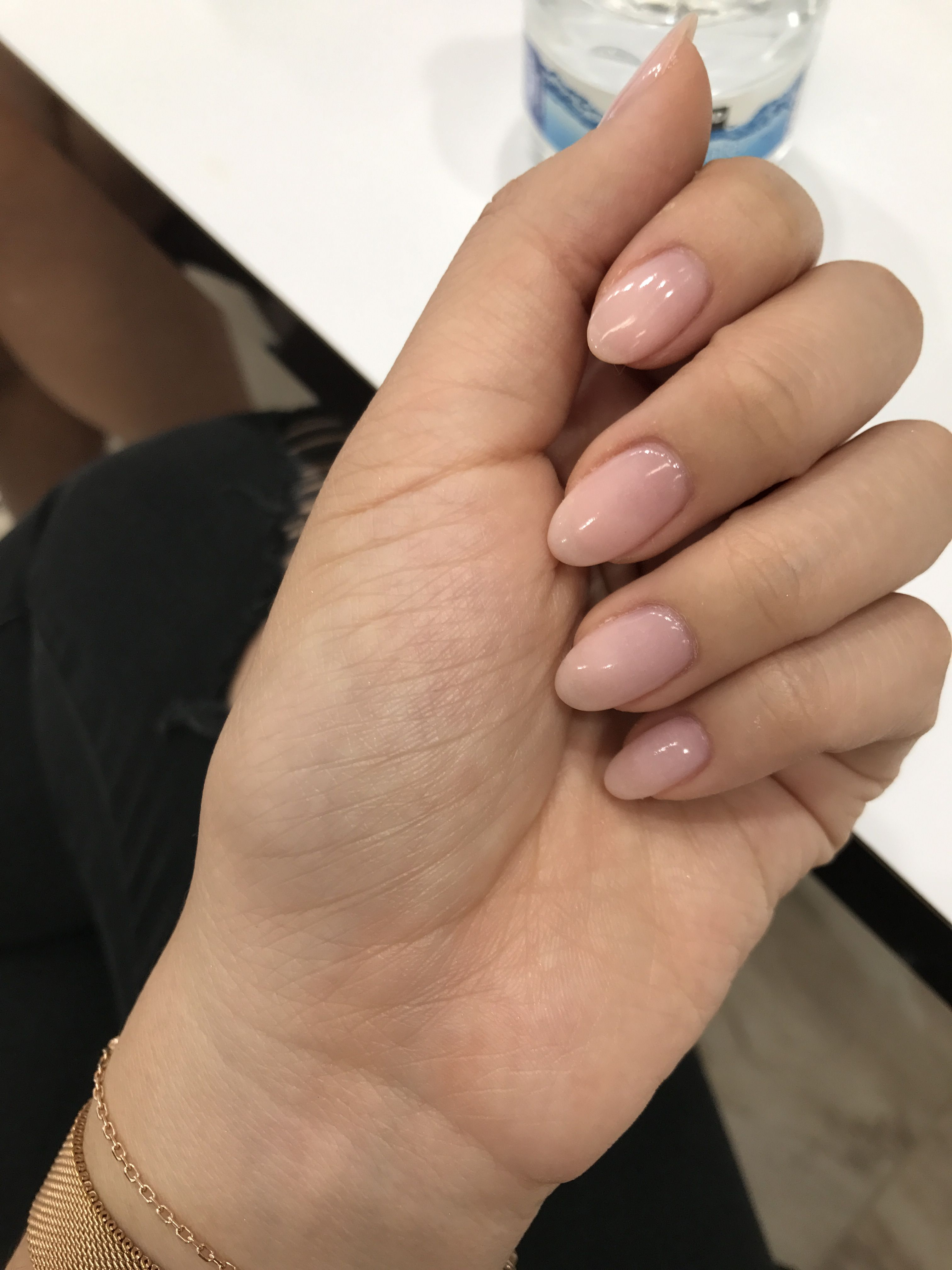 Natural Nails Pink Aeslee98 Rounded Acrylic Nails Pink Nails Natural Nails