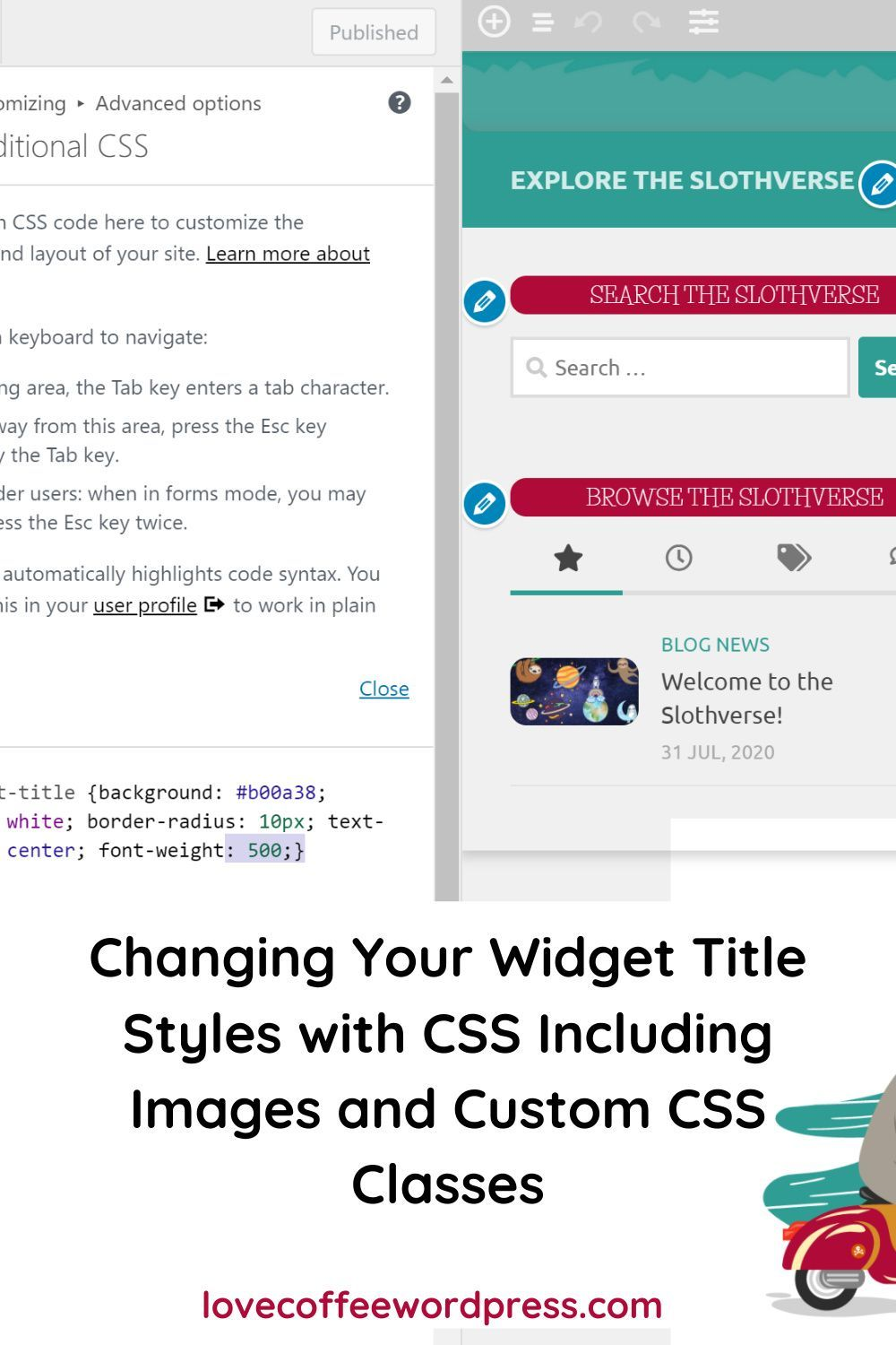 Changing Your Widget Title Styles and Colors With CSS in