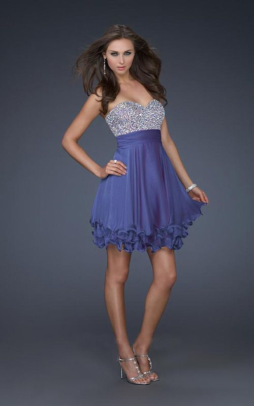 Purple Short Semi Formal Dresses for Juniors | Fashionsup ...