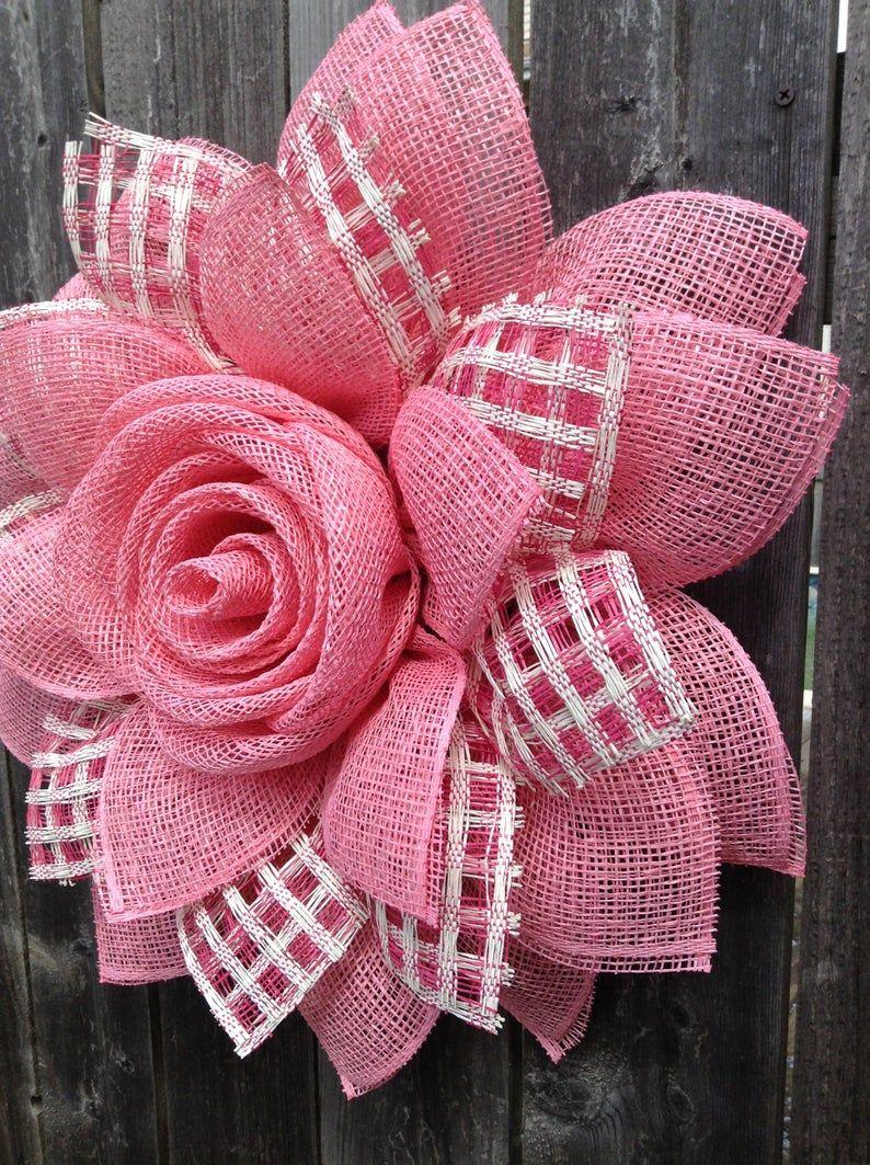 Front Door Year Round Pink Daisy Flower Wreath, Sp